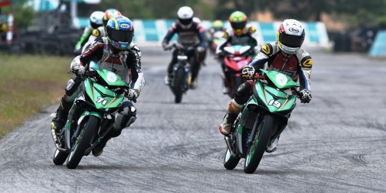 Cub Prix - CP150 riders during their testing in MIMC
