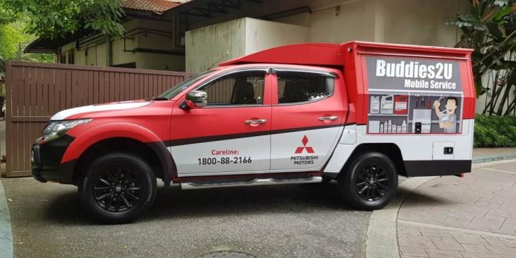 Mitsubishi Mobile Service Unit- Side View