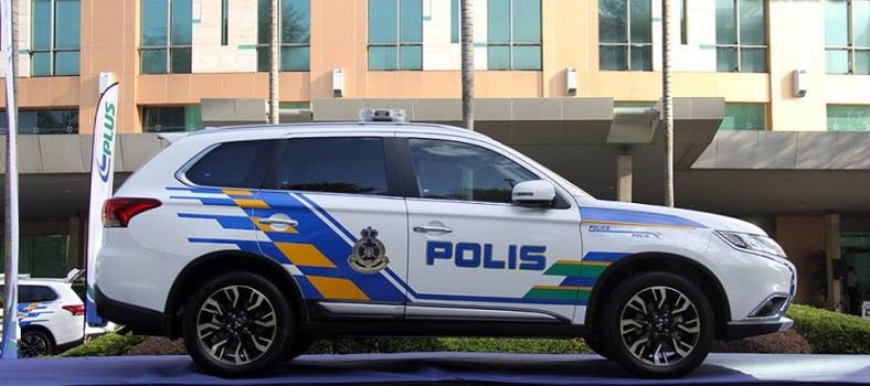 The Outlander 2.4-litre as the Police Highway Eagle (Image taken from PDRM Facebook page)