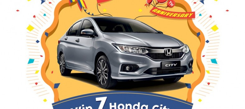 Honda Malaysia is giving away 7 brand new City to lucky winners through the Joy of Buying Campaign