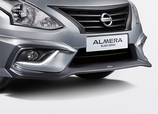 04 New Almera Black Series_TOMEI Front Bumper with Dark Titanium Accent