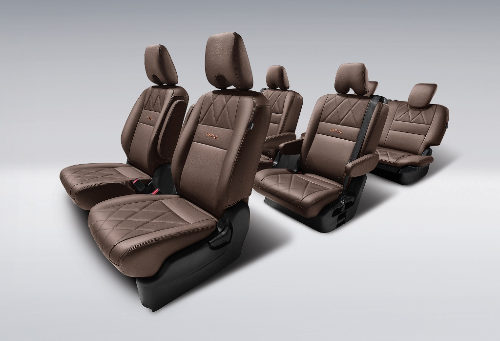6. Mocha-coloured Diamond Quilted Premium Leather Seats
