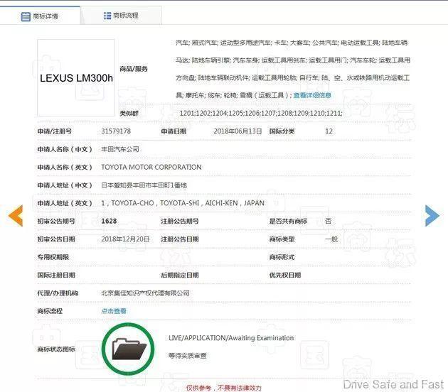 Lexus MPV Name TM 1