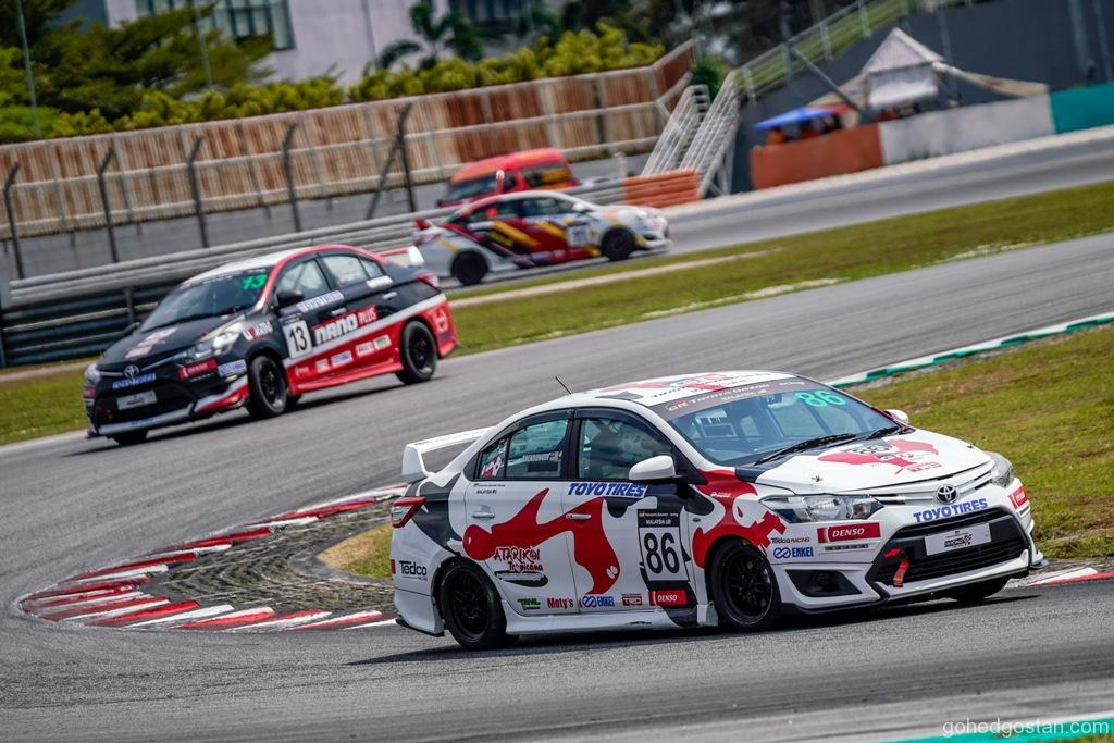Sporting Class Overall Champion Brendon Lim wins Race 2 of Toyota Vios Challenge