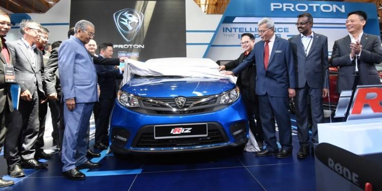 YAB Tun Dr Mahathir Mohamad unveils the Proton Iriz