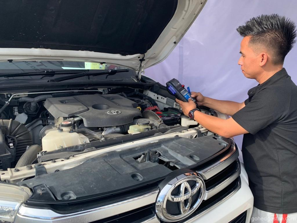 Vehicle inspection by Toyota Technician