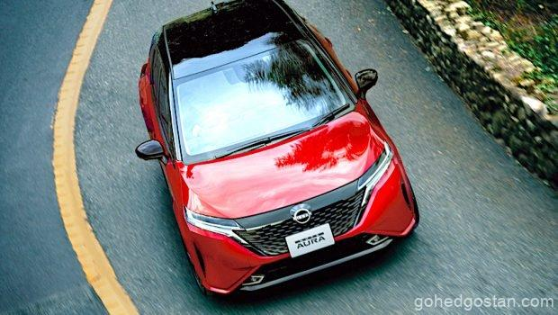 Nissan-NOTE-AURA top front view 1.0